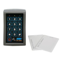 Code keyboard with card reader - 3 outputs