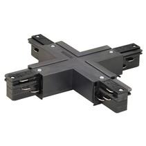 3-fase rail X- verbinder met voeding, zwart