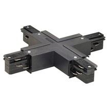 3-phase rail X connector with power supply, black