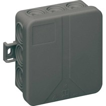 Black junction box 85x85x37 IP55
