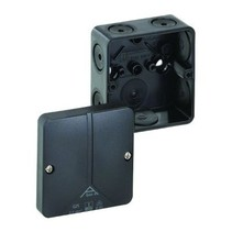 Black junction box 80x80x52 IP65