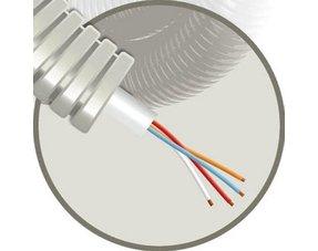Prewired flexible tube