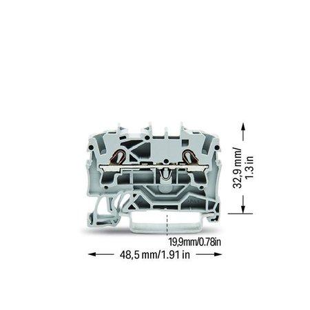 Wago Wago 2-draads rijgklem Topjob 2,5mm² - 2002-1201