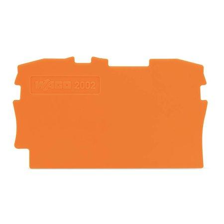 Wago Wago eind- of scheidingsplaat, oranje 2002-1292