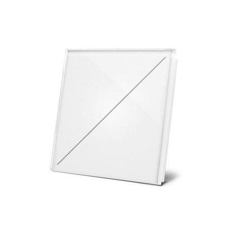 Velbus Velbus Edge Lit mat witte glazen bedieningsmodule  met 2 toetsen
