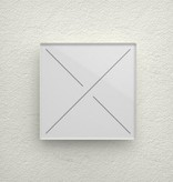 Velbus Velbus Edge Lit Mat witte glazen bedieningsmodule  met 4 toetsen