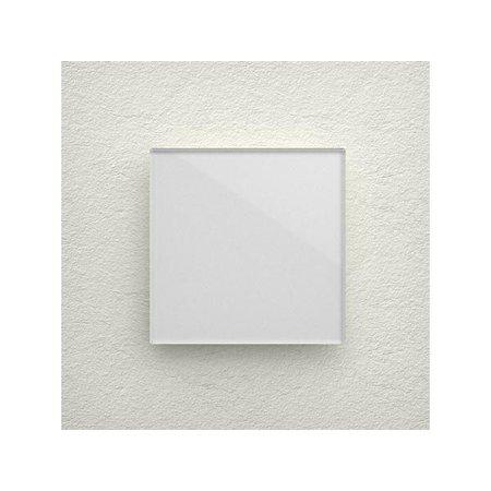 Velbus Velbus Edge Lit mat witte glazen bedieningsmodule  met 1 toets