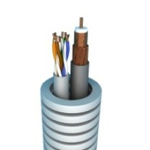 Flexible tube with coax & UTP cat5e - 50m