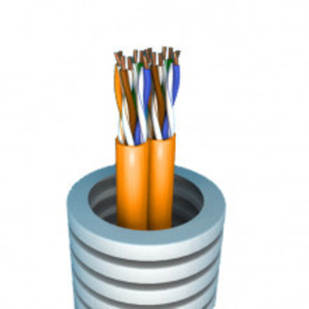 Flexible tube with 2 x S / FTP Cat7 - roll 100