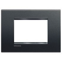 Cover plate Living Light 3 modules, anthracite