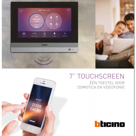 Bticino Home touch 7 inch touchscreen from Biticino