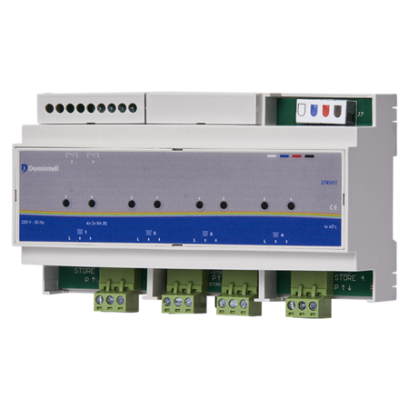Domintell Domintell shutter module, 4 outputs - DTRV01