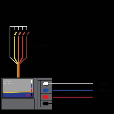Domintell Domintell digitale ingangsmodule 4 inputs - DISM04