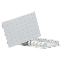 Divisible cover strips for distribution boxes, 4 modules