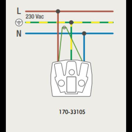 Niko Niko Sokkel Stopcontact met steekklemmen, 170-33105