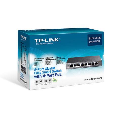 TP-Link TL-SG108PE - 8 port switch - 4 POE port