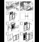Hager Hager Vega 4-row multimedia cabinet