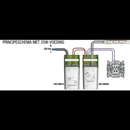 Niko Niko PWM LED dimmer 8-24VDC - 100Watt