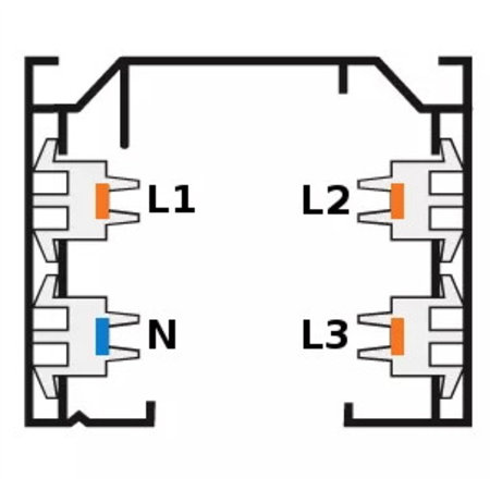 SLV Opbouw 3-fase rail, zilver grijs, 1, 2 of 3 meter