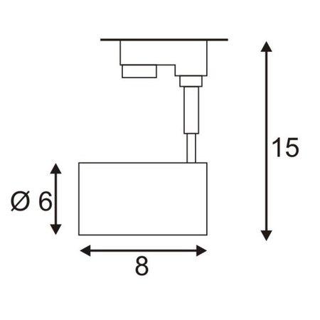 SLV Bima 3-fase track verlichting voor GU10 LED Lamp