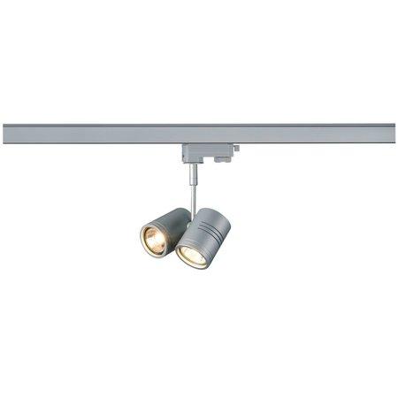 SLV Bima tweevoudig 3-fase track verlichting voor GU10 LED Lamp