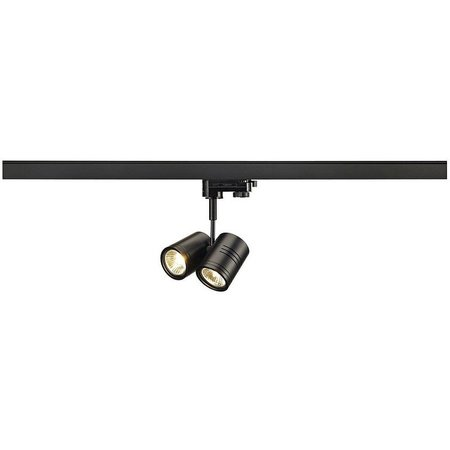 SLV Bima double 3-phase track lighting for GU10 LED Lamp