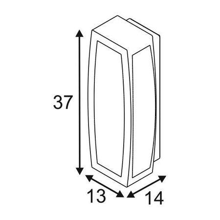 SLV Meridian box wandverlichting