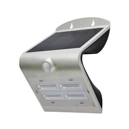 Perel LED Wandlamp op zonne-energie met sensor, 3.2Watt