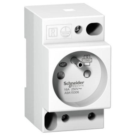 Schneider DIN-rail stopcontact, 16A -230V