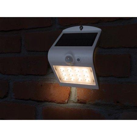 Perel Solar wall lamp with sensor, 1.5 Watt