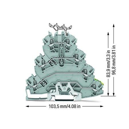4-etage Rijgklem L1 - L2 - L3 en PE, 2002-4127