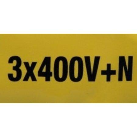 Sticker 3x400V+N (70x35mm)
