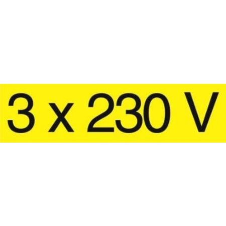 Zelfklever 3x230V (115x30mm)