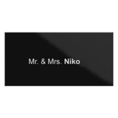 Niko Vervangnaamplaat voor Niko Buitenpost met 1 drukknop