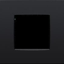 Enkelvoudige afdekplaat,  Intense zwart, 130-76100
