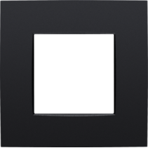 Single cover plate, Intense matt black, 130-76100