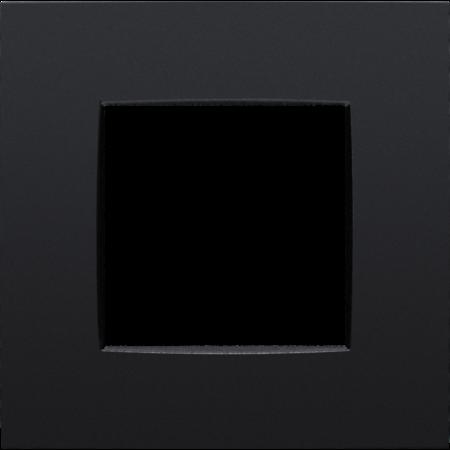Niko Enkelvoudige afdekplaat,  Intense mat zwart, 130-76100