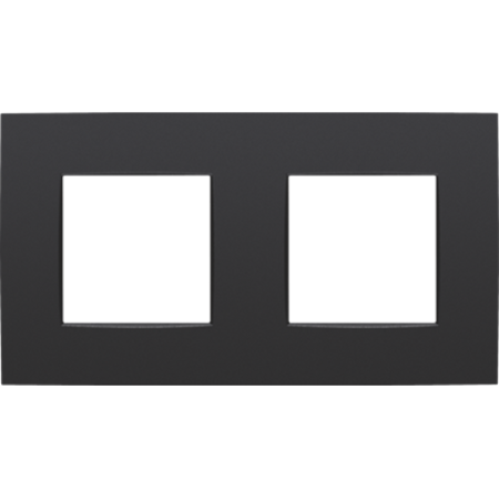 Niko Horizontal double cover plate, Intense matt black, 130-76800