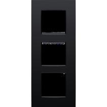 Vertical triple cover plate, Intense matt black