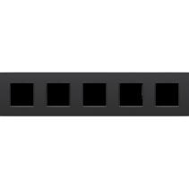 Vijfvoudige afdekplaat horizontaal,  Intense zwart
