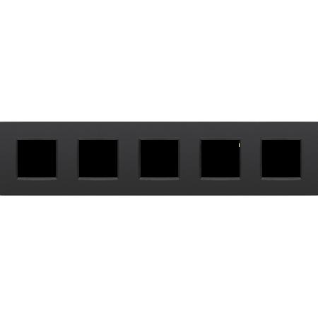 Niko Vijfvoudige afdekplaat horizontaal,  Intense zwart, 130-76005