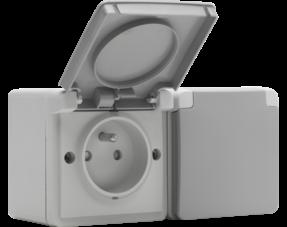 Niko Hydro stopcontact grijs