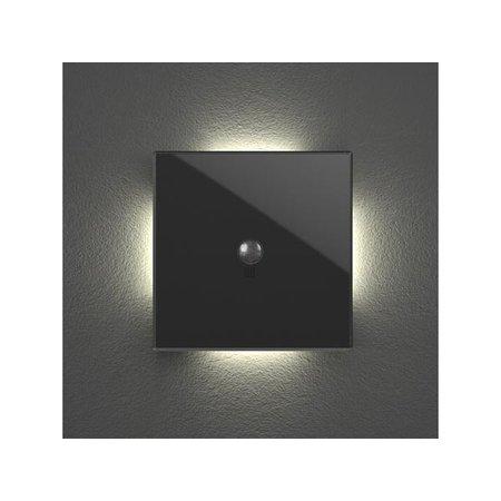 Velbus Edge lit bediening met bewegings- en schemersensor, zwart