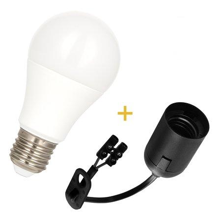 E27 Fitting + 10Watt LED lamp 4000K