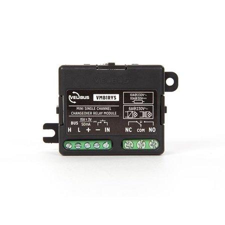 Velbus Mini 1-kanaals wisselrelaismodule (voor standalone en velbus werking)