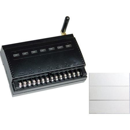 Ontvanger Wi-Fi en RF 433 MHz met 2 draadloze schakelaars - 6 kanalen