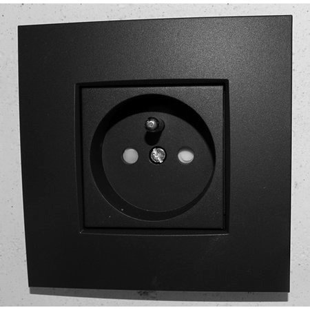 Niko Niko enkelvoudig stopcontact, intense mat zwart