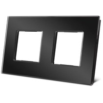 Dubbele glazen afdekplaat voor Niko, zwart