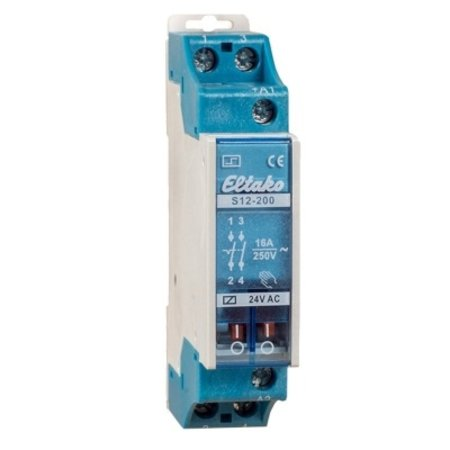 Eltako Elektromechanische impulsschakelaar, 24VDC met 2NO contacten