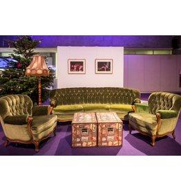 Retro Möbel Grüne Samtgarnitur